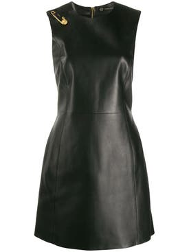 Versace - Safety Pin Leather Dress - Women