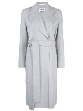 Acne Studios - Grey Mohair Belted Coat - Women