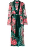 For Restless Sleepers - Green Floral Print Coat - Women