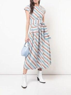 Isa Arfen - Long Striped Dress - Mid-length