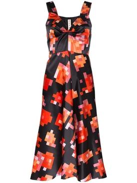 multicolored pixel dress