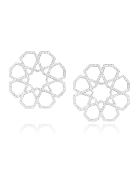 Arabesque Deco stud earrings