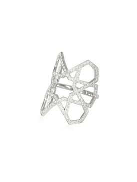 Arabesque Deco Diamond Ring