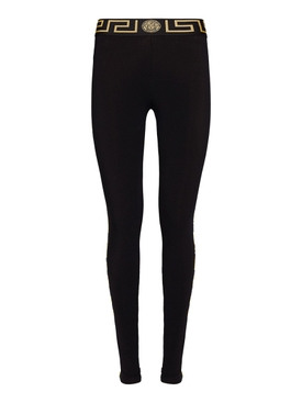 Black Greca Logo Leggings