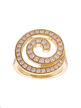 18kt yellow gold Diamond gratitude ring