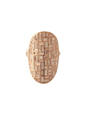 Anita Ko - 18kt Rose Gold Mosaic Diamond Ring - Fine Rings