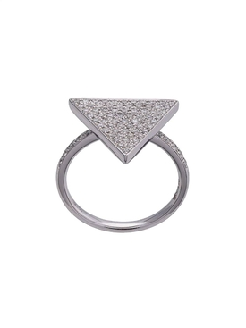 18kt triangle diamond ring
