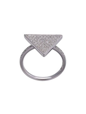 Anita Ko - 18kt Triangle Diamond Ring - Women