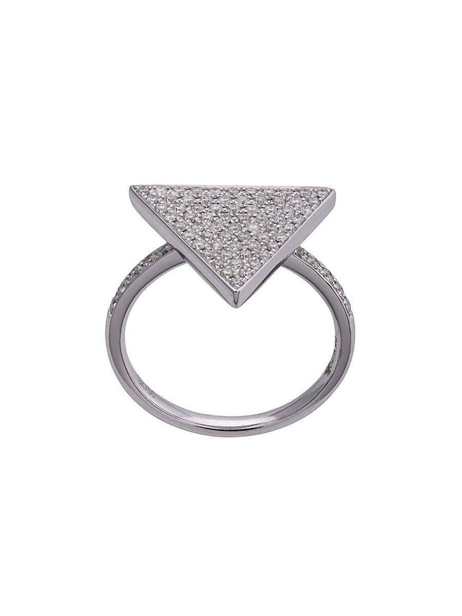 Anita Ko 18KT TRIANGLE DIAMOND RING