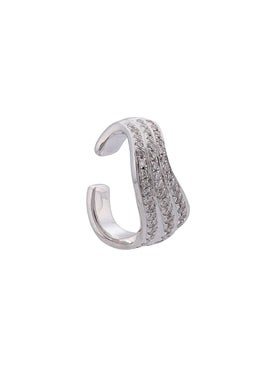 Anita Ko - 18kt White Gold Curved Dia Ear Cuff - Fine Earrings
