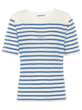 Acne Studios - Linen Stripe T-shirt - Women
