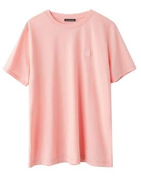 Acne Studios - Ellison Face T-shirt Pink - T-shirts