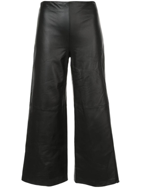 Adam Lippes - Black Cropped Leather Pants - Women