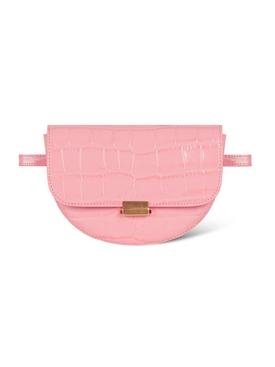 ANNA BELT BAG BIG CROCO, blossom
