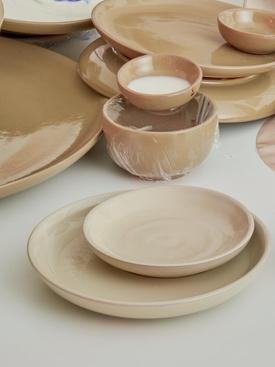 GIRO Ceramics Assiete A Dessert BEIGE