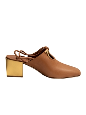 Brown Laino Mirror Heel Mule