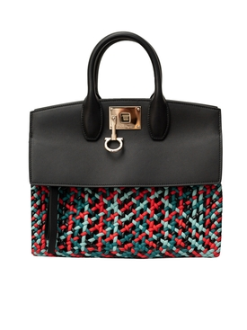 Medium Woven Studio Bag