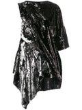 Marques'almeida - Black And Silver Sequin Mini Dress - Women