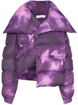 Marques'almeida - Purple Tie-dye Puffer Jacket - Women
