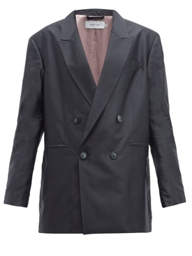 over-sized wool blazer BLACK