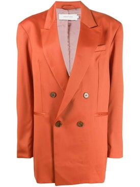 Marques'almeida - Over-sized Wool Blazer Orange - Women