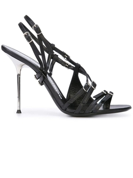 multiple buckle sandals