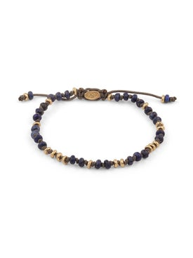 M. Cohen - Matte Lapis & Gold Gemstone Bracelet - Men