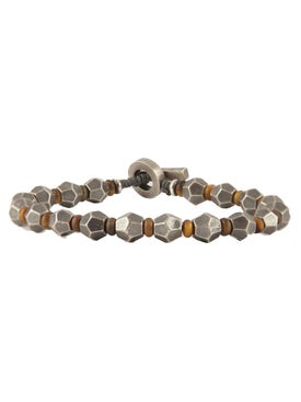 M. Cohen - Sterling Silver And Tigers Eyee Axiom Bracelet - Men