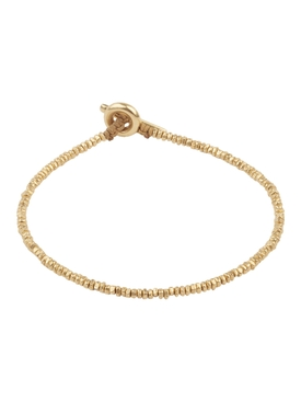 18k gold mini bead bracelet