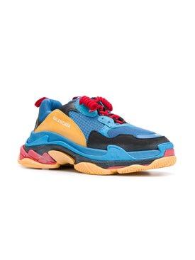 Balenciaga - Blue And Orange Triple S Sneakers Blue - Men