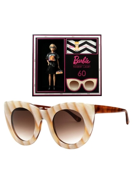 Thierry Lasry x Barbie beige cat eye sunglasses