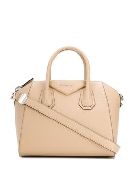 Givenchy - Small Pebbled Leather Antigona Bag Beige - Women