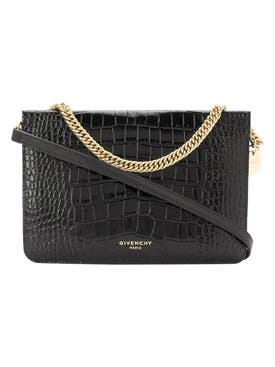 Givenchy - Black Cross3 Embossed Crossbody Bag - Women