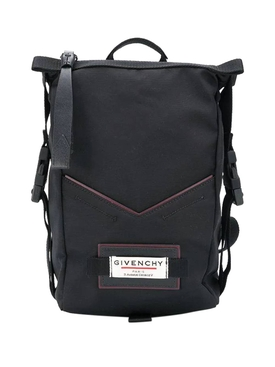 Black pannier backpack