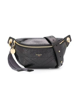Givenchy - Black Crackled Leather Id Belt Bag - Women