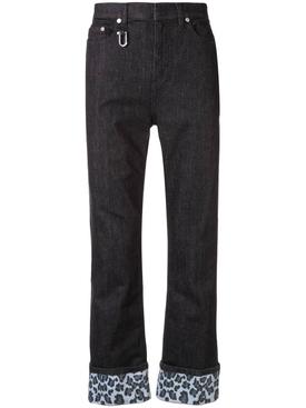 cuffed regular fit jeans BLACK/BLUE