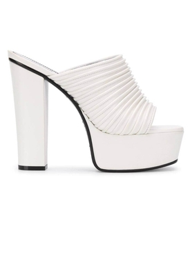 White Look Book Platform Mule