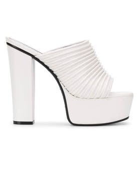 Givenchy - White Look Book Platform Mule - Women