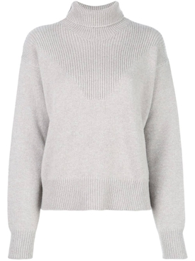 knitted turtle neck sweater GREY
