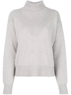 Alexandra Golovanoff - Knitted Turtle Neck Sweater Grey - Women