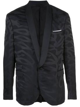 Black tonal print jacket