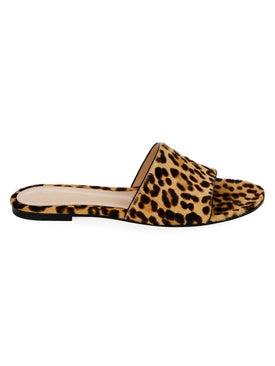 Gianvito Rossi - Leopard Slide Sandals - Women