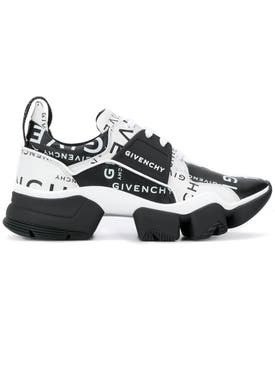 Givenchy - Black And White Jaw Logo Sneakers - Men