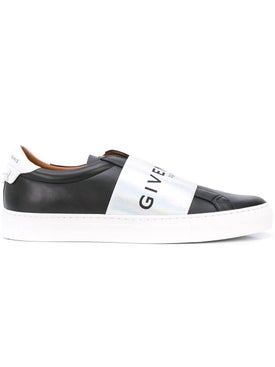 Givenchy - Silver Panel Logo Sneakers - Low Tops