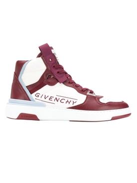 High top wing sneakers