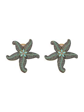 opal & turquoise starfish earrings
