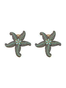 Begum Khan - Opal & Turquoise Starfish Earrings - Women