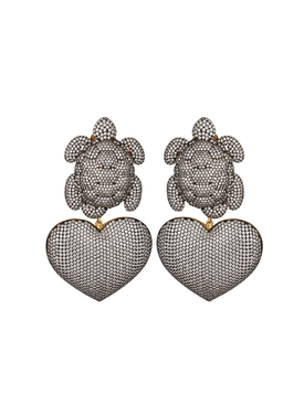 Begum Khan - Turtle Mon Amour Earrings - Women