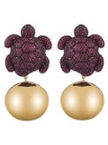 Begum Khan - Purple Caretta Party Earrings - Women