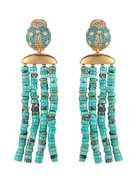 Begum Khan - Lady Bug Capri Earrings - Women